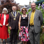 Norman Baker, Councillor Micheal Turner with his wife and Chairman Heather Hicks